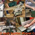 Different types and models of wood jointer and planer.