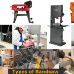 Different types and sizes of bandsaws.