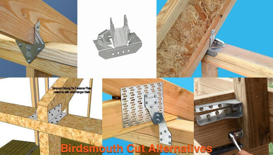 Different methods of roof joints.