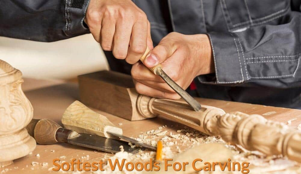 Carving wood pillars using woodworking hand tools.