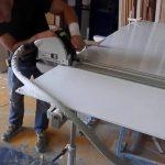 cut plexiglass sheet using circular saw.