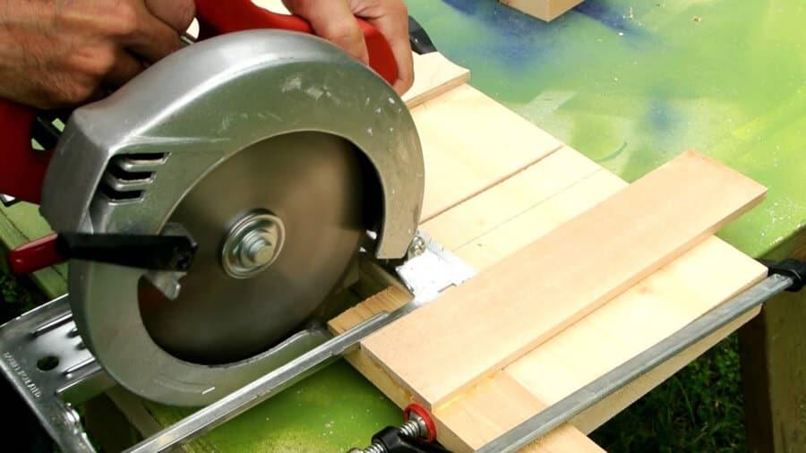 Use circular saw to cut dado.