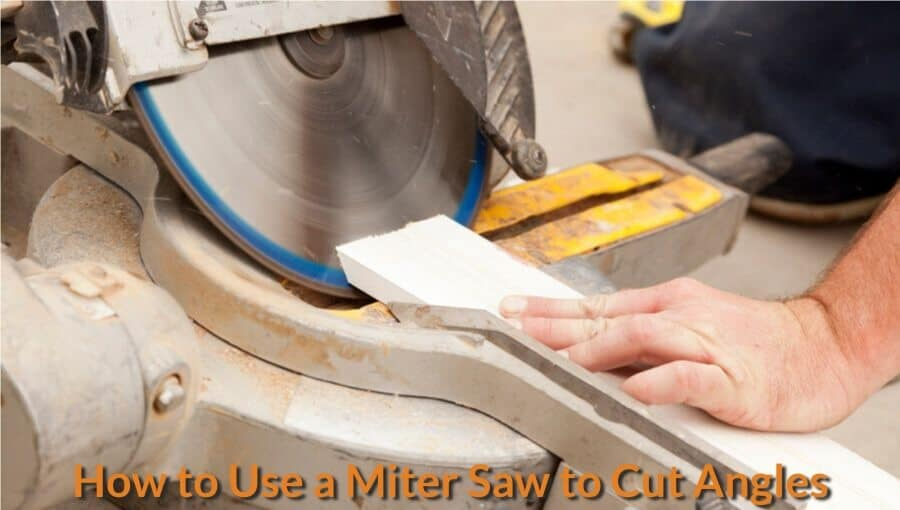 Cutting bevel angles with miter saw.