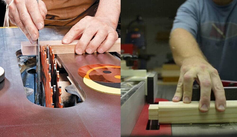 Table saws that can use dado blades.