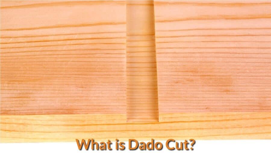 Sample of a clean dado cut on wood board.