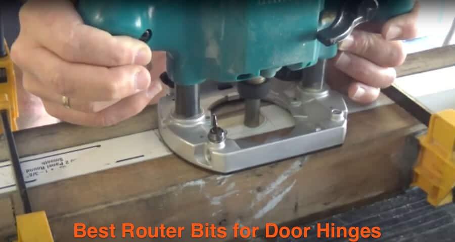Router a door hinge hole.