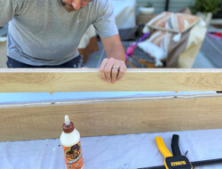 Using dowel to joint 2 long boards.