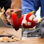 Comparing the functions of hand planer and electric hand planer.