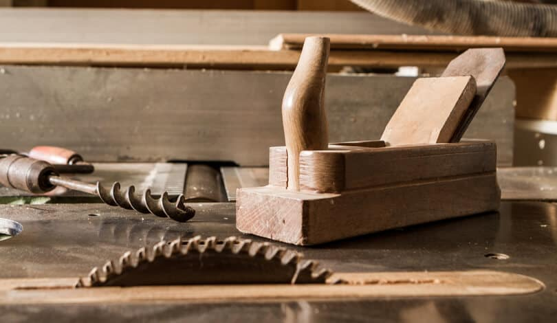 A small table saw that used for fine woodworking.