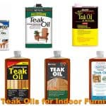 Different types of teak oil finishes for indoor wood furniture.