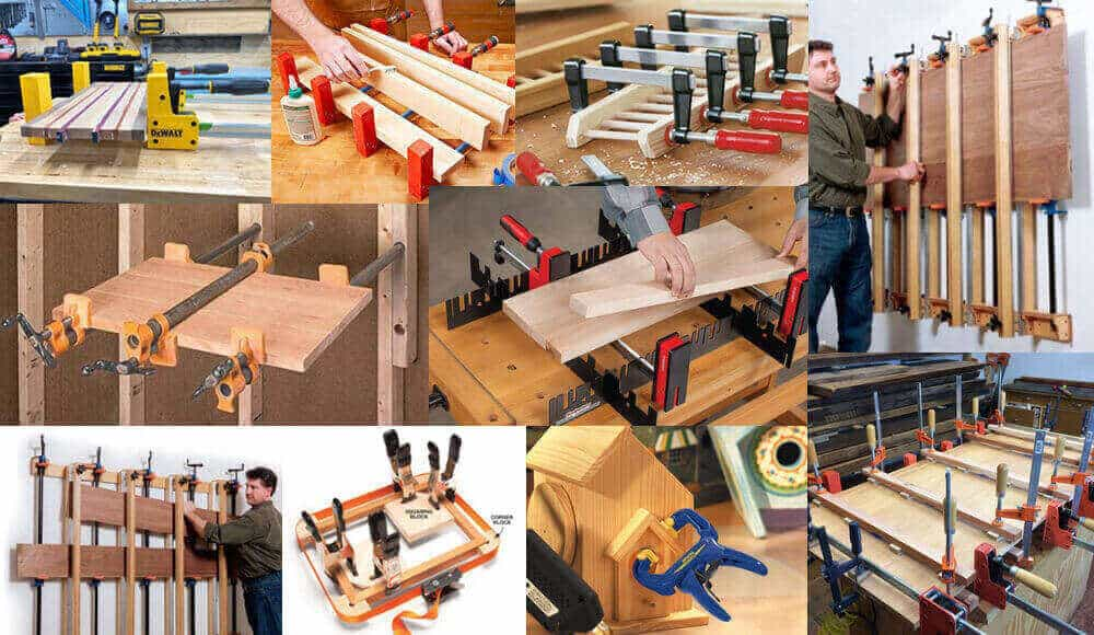 All the types of wood clamps that suitable for glueing up wood.