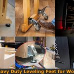 Strong leveling legs and feet for workbenches