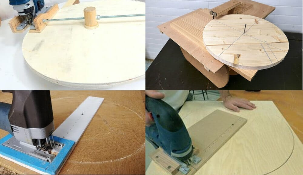 Tutorials on how to use jigsaw to cut circle on wood board.