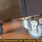 Locking caster positions for table and bench.