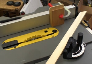 Miter saw gauge for table saw.