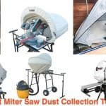 Different patterns of dust tents for miter saw.