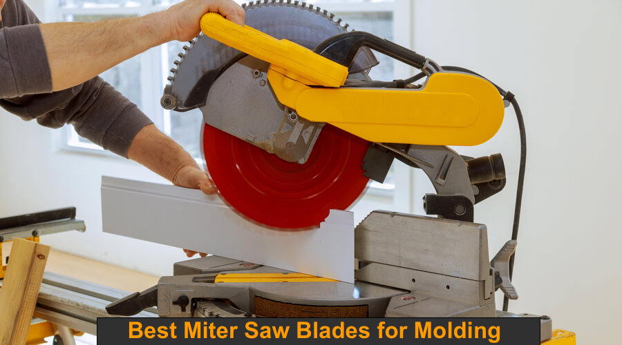 Use molding and trim blade on miter saw.