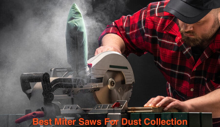 Installing vacuum dust bag on the miter saw dust collection port.