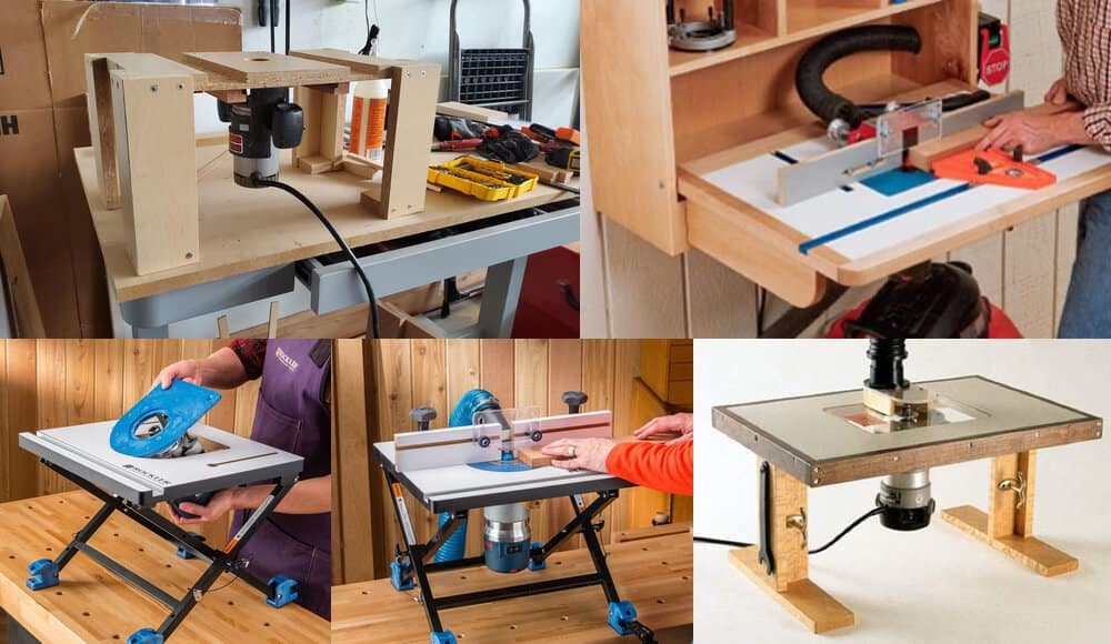 Ways to mount the compatible router under the table.
