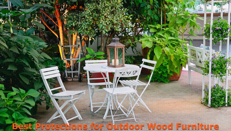Protector coatings for outdoor wooden furniture.