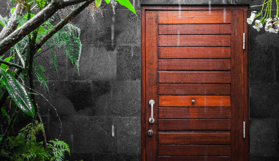 Outdoor door finishes