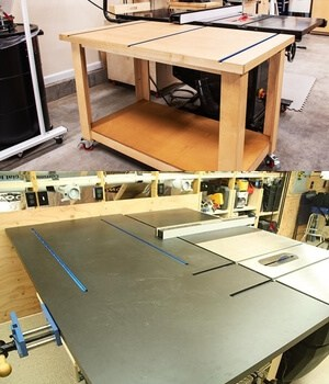 Outfeed Table for support longer wood.