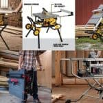 Jobsite table saw for small room and portability purposes.