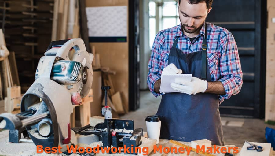 Woodworker making list of profitable craft projects to make.