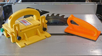 table saw puch block and push pad for safety