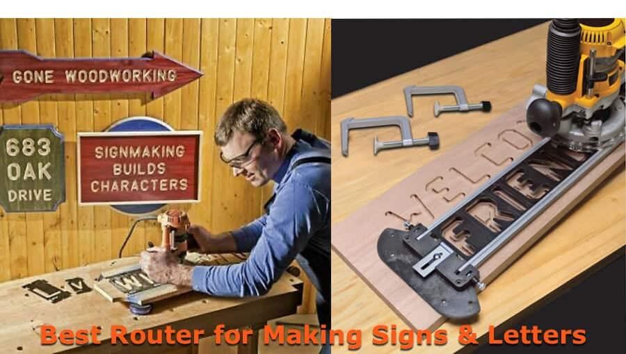 Choosing the suitable router for making wood signs and letters.
