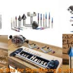 Different types of sign-making router bits.