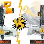 Differences between single and dual or double bevel miter saws.