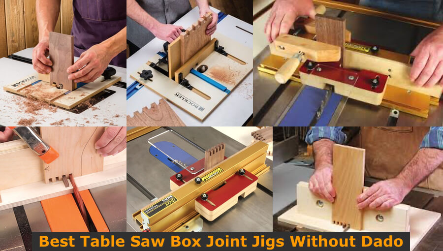 Box joint jigs for table saw.