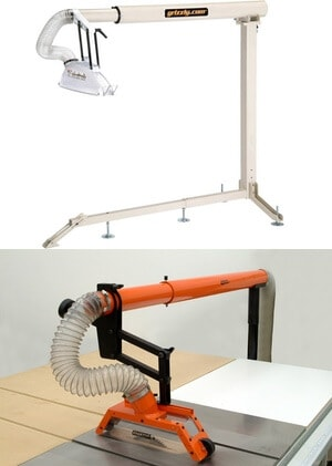 Table saw dust collection systems.