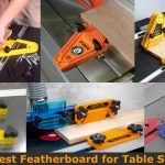 Different types of table saw feather board.