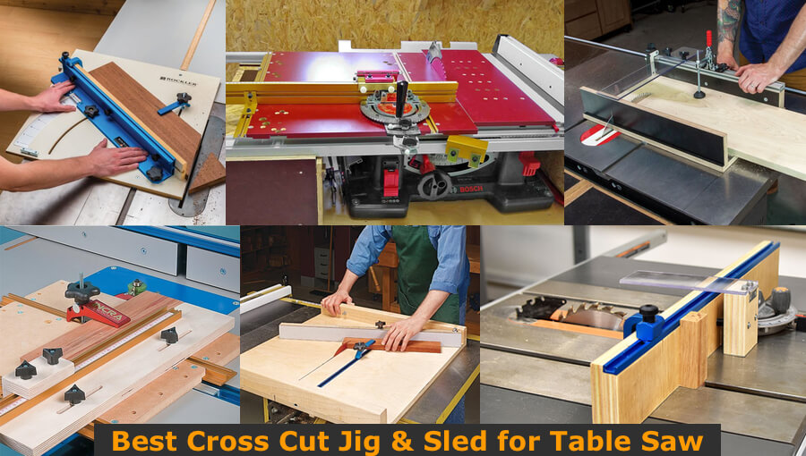 Sizes and types of table saw crosscut jigs.