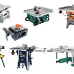 Different types and categories of table saws for woodworking.