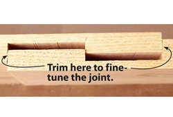 Tabled locking lap joints.
