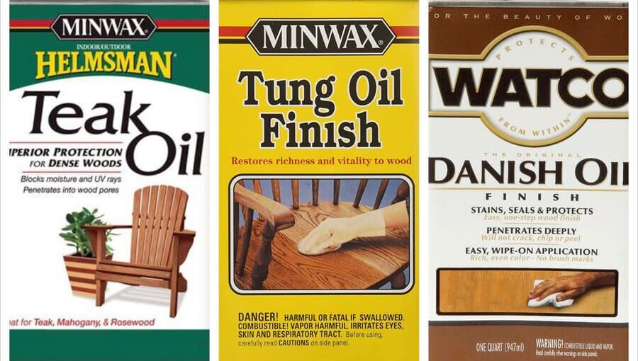 Comparing teak, tung and danish finish oils.