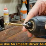 Using drill bit on the impact driver.