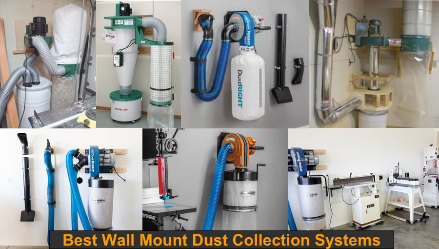 Reduce the dust produced during woodworking projects with wall-mount dust collecting systems.