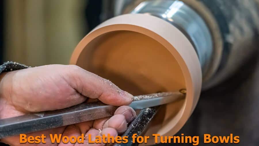 Choosing the suitable wood lathe machine for turning wooden bowls.