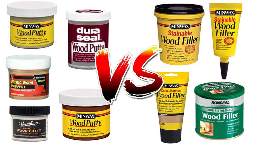 Comparing the features of Wood putty and wood filler.