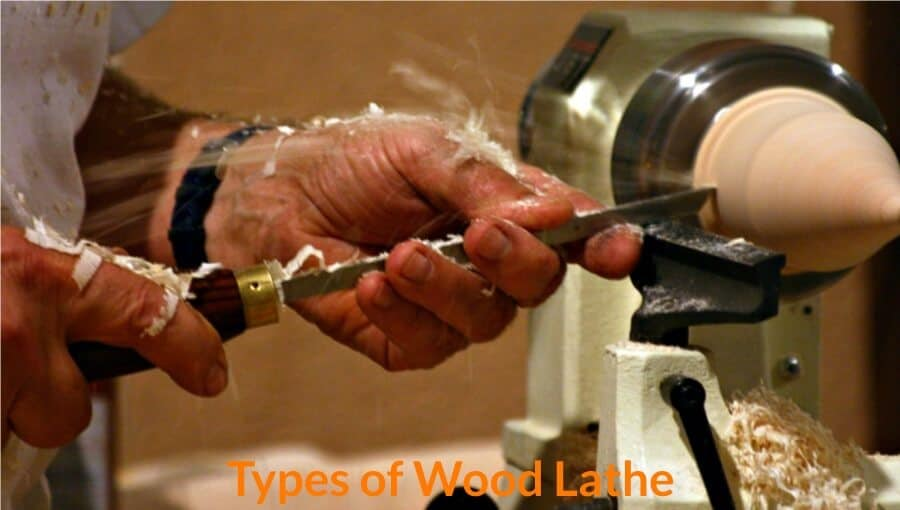 Different types of wood lathe machine in woodworking.